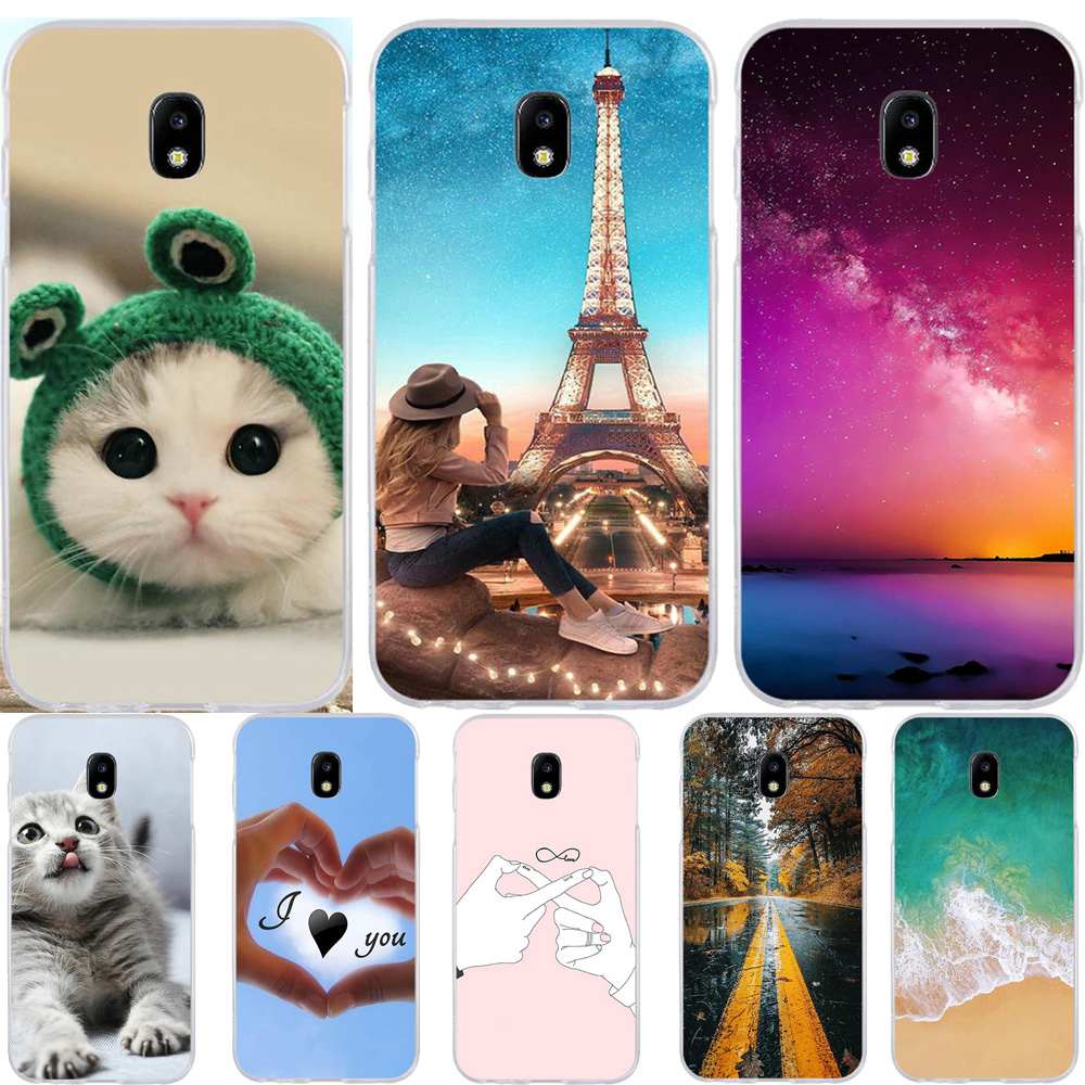 For Samsung Galaxy J3 2017 Case Silicone Ultra Thin Animal Cover J330 J330F Phone Cases