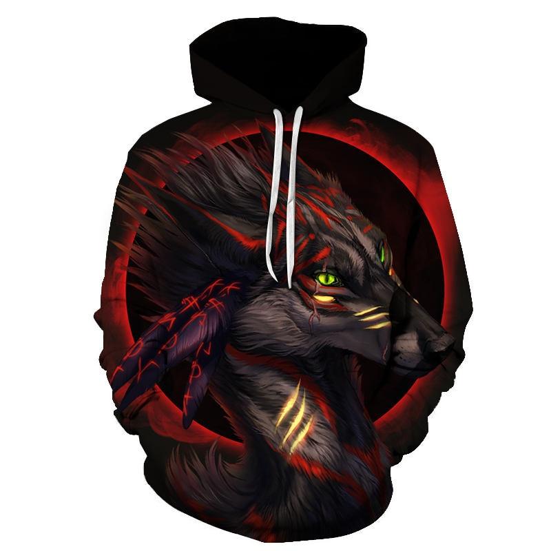 Wolf Printed Women 3d Hoodies Brand Sweatshirts Girl Boy Jackets Pullover Fashion Tracksuits Animal Streetwear Lovers Sweatshirt 55