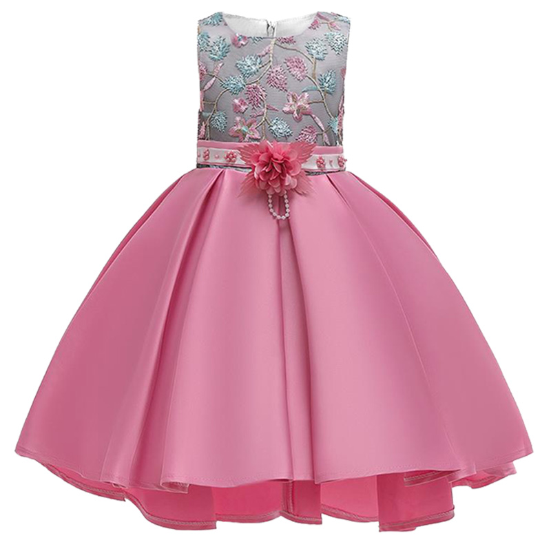 2019 Flowers Baby Girl Dress Kids Ball Gown Costume Children Clothing Party Wedding Princess Clothes Vestidos De Comunion