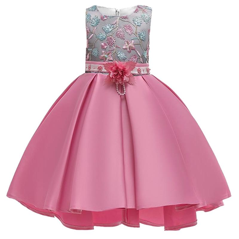 2019 Flowers Baby Girl Dress Kids Ball Gown Costume Children Clothing Party Wedding Princess Clothes Vestidos De Comunion