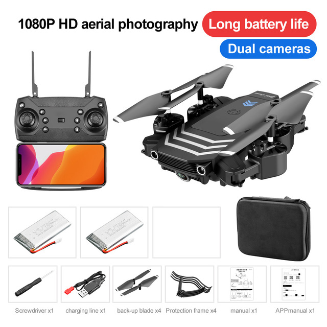 RC Drone 4K Quadcopter With Camera HD FPV Mini Drones Profissional Foldable Hold Mode Dual Cameras Dron Toys Dronees Gifts