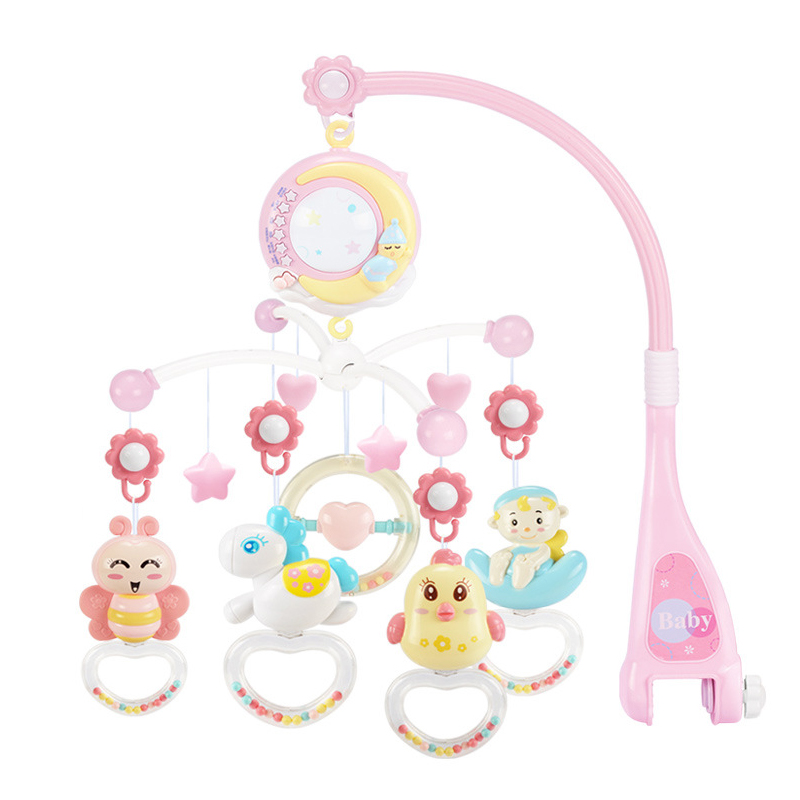 Baby Rattles Crib Mobiles Toy Holder Rotating Crib Mobile Bed Musical Box Projection 0-12 Months Newborn Infant Baby Boy Toys -