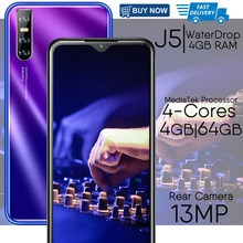 Smartphones j5 4gb ram 64g rom 13mp 6.26