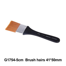 No. 5 Paint Brush Long Flat Head Cleaning Brush Gouache Acrylic Painting Brush Oil Brush Painting Wall Art Supplies 9 pieces long handle oblique flat art paint brush value set for oils acrylic gouache