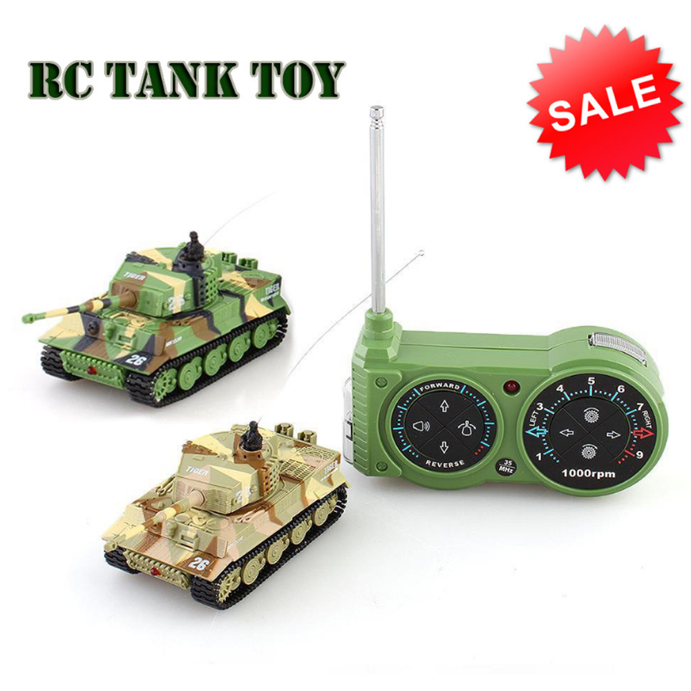 Military RC Crawler Tank Remote Control Simulation Armos Corps Tiger Battle Model Mutual Fight Army Toys For 6 Year Old Children