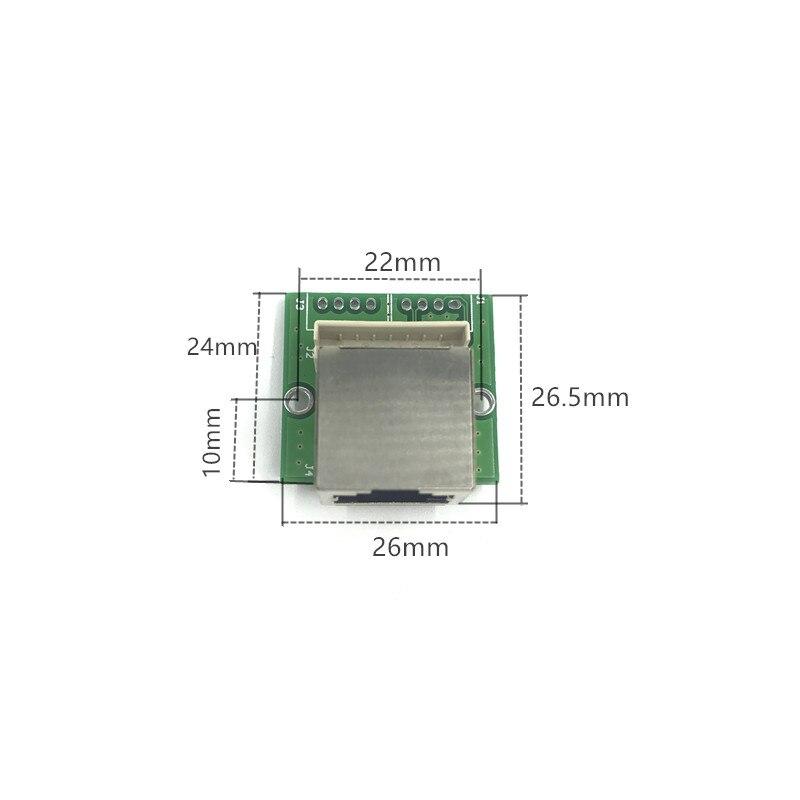 Mini 5V 12Vswitch module PBC OEM module mini size 3/4/5 Ports Network Switches Pcb Board mini ethernet switch module 10/100Mbps 4