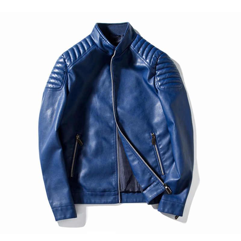 HCXY 2019 осенняя куртка Для мужчин высокого качества Бейсбол куртки пальто из искусственной кожи Slim Fit Колледж Роскошные пилот Кожаные куртки