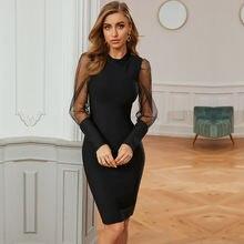 Осень зима 2020 новое поступление женское Бандажное платье модное