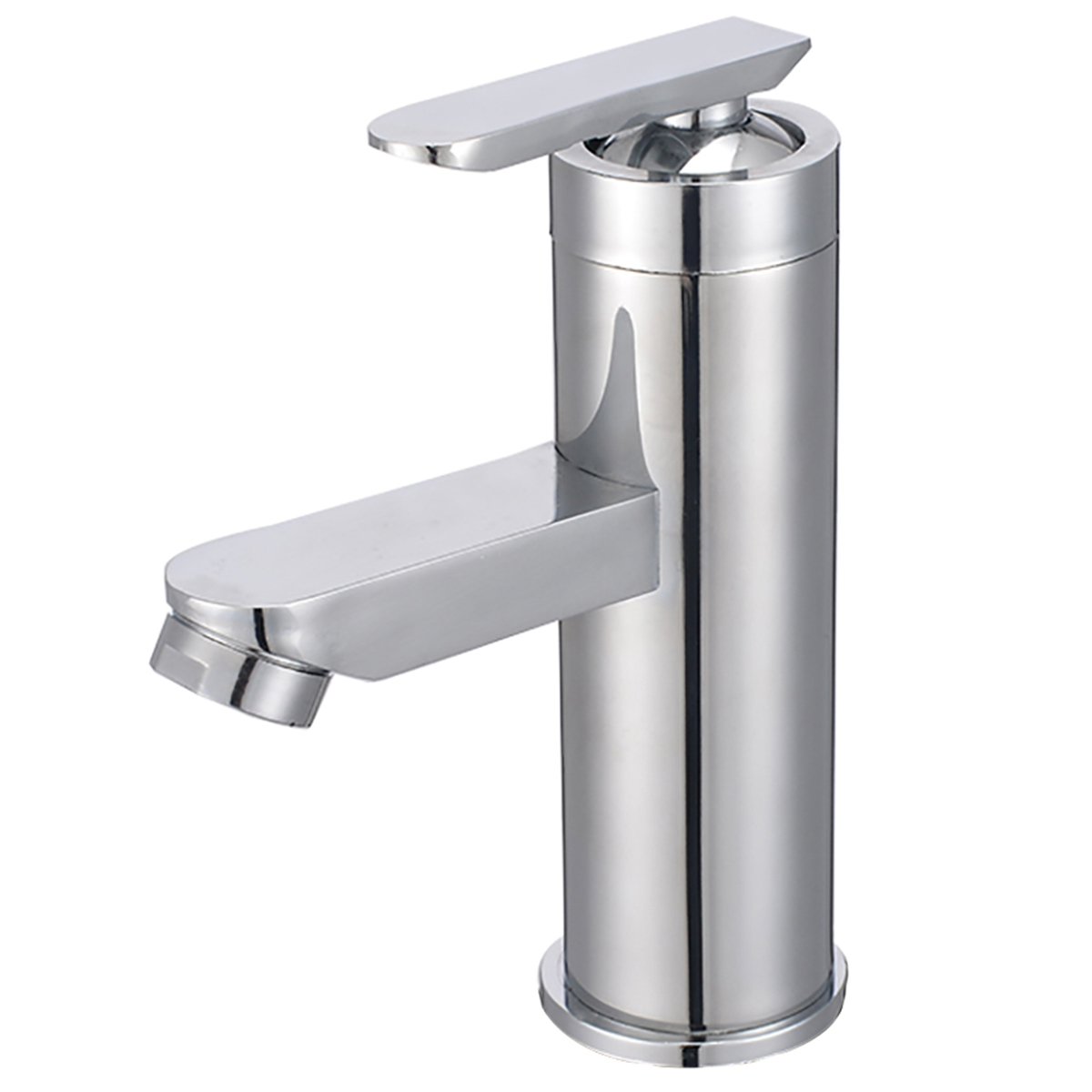 Chrome Single Handle Sink Cold Hot Mixer Tap Waterfall Household Kitchen Bathroom Basin Faucets