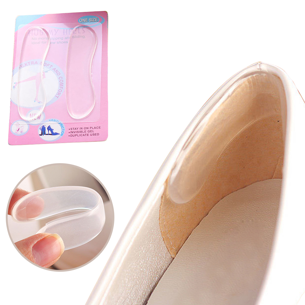 1 Pair Silicone Invisible Shoe Sticker Foot Shoes Gel Stickers Transparent Insole Pad Invisible Insoles High Heel Cushion Pads