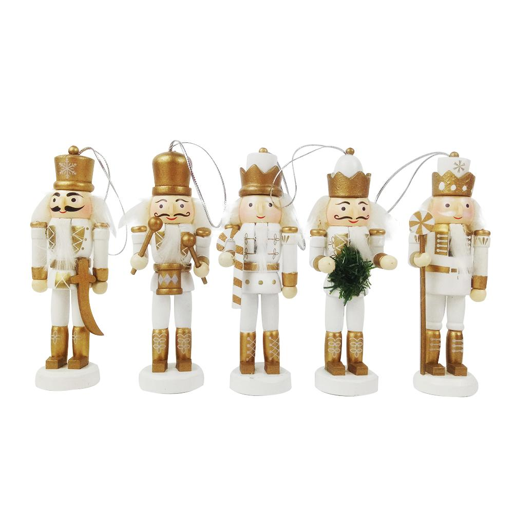 12.5cm Vintage Handcraft Puppet Wooden Nutcracker Doll Soldier Home Party Decoration Ornaments Christmas Gifts Christmas Decorat