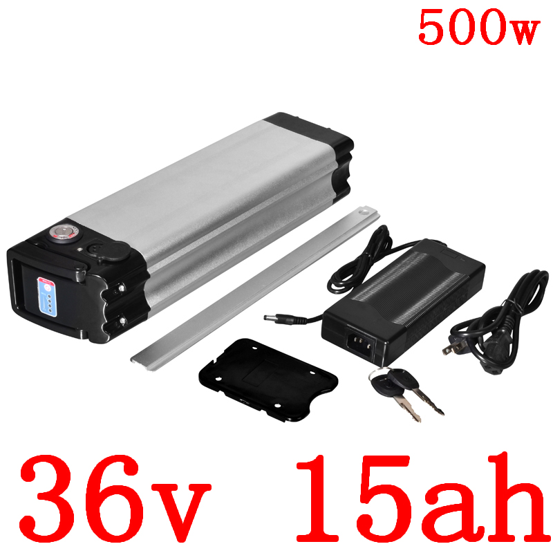 36V Electric Bicycle Battery 36V 10Ah 13Ah 15Ah 18Ah 500W Ebike Battery 36V 15AH Lithium Battery with 2A charger free shipping