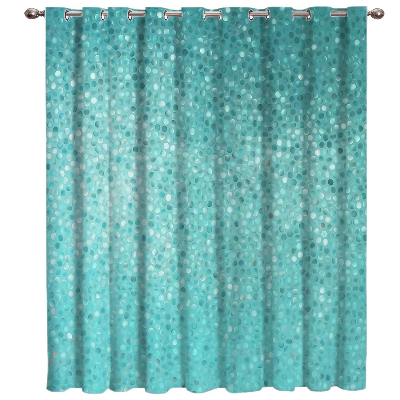Turquesa design geométrico janela tratamentos cortinas valance sala de estar cortina haste do banheiro decoração ao ar livre swag crianças cortina