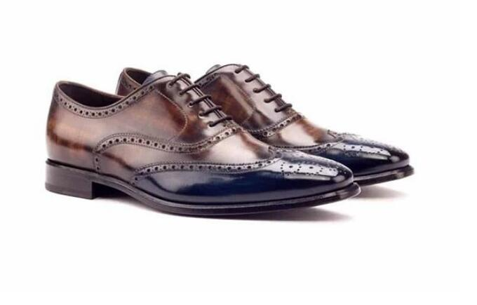 Promo Men Leather Shoes Lace Up Casual Shoes Dress Shoes Brogue Shoes Spring Ankle Boots Vintage Classic Male Casual F28