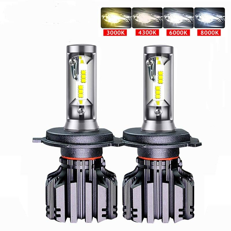 Car Headlight 50W 10000LM CSP Chips 9005 9006 H11 LED H4 LED H7 Car LED Headlight Bulbs Led HB4 Headlamps 3000K 6000K
