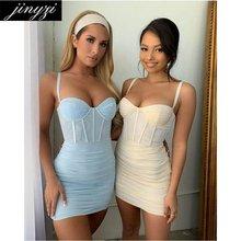 Frete grátis moda robe sexy suspender bandagem mini espartilho vestido plus size feminino vestido de verão vestidos de mujer casual