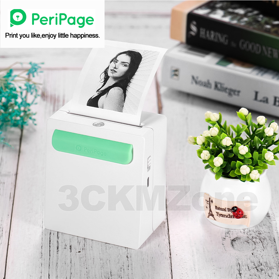 Peripage Pocket Photo Bluetooth Printer 58mm 2 Inch Thermal Label Notes Wireless Printer Handheld Printer For Android IOS Phone