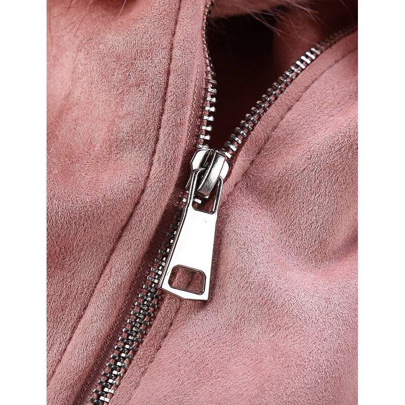 H89c74cf5227c438ea3d6572b9bb21539Y Giolshon 2021 New Winter Women Thick Warm Faux Suede Jacket Coat With Belt Detachable Faux Fur Collar Leather Jackets Outwear