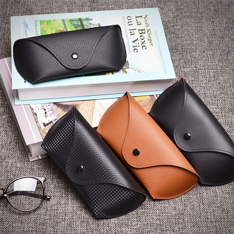 1PC Portable Unisex Faux Leather Eye Glasses Sunglasses Holder Box Case Cover And Sunglasses Compression Soft Pack Glasses Case