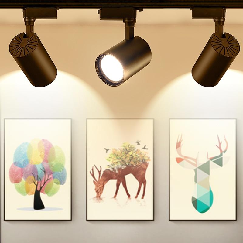 12W 20W 30W COB LED Track Light Spot Light  Ceiling Mounted Rail Track Lamp Decorative Led spotlight Track Lighting for Shop