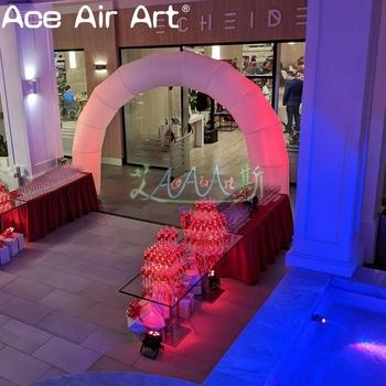 Dekoracja imprez nadmuchiwany łuk zdarzeń z oświetleniem led na wydarzenie tanie i dobre opinie Ace Air Art oxford 8 lat Namiot 3A-AS202141609 Składany Nadmuchiwane Sewing and Stitching white or custom 4mW x 3mH or custom