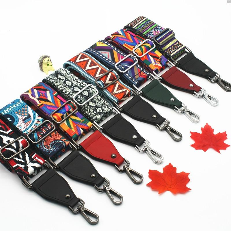 Nylon Rainbow Bag Strap Handbag Belt Wide Shoulder Strap Bag Replacement Bag Accessories Part Adjustable Belt For Bag Obag W231