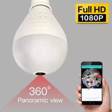 Light Bulb IP Camera Smart Home Indoor Security 360Degree Panoramic Viewing Camera 2 Ways Audio Wide Angle 1080P HD CCTV Camera