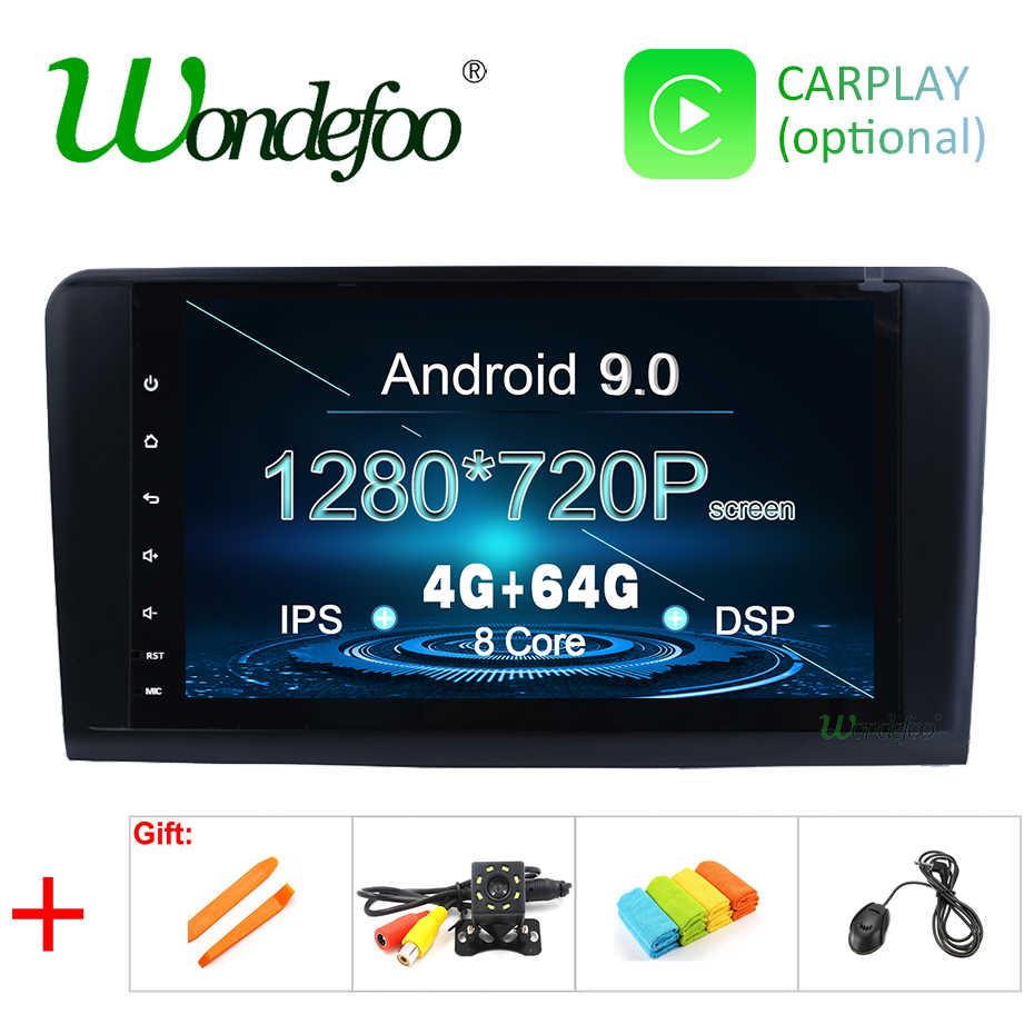 アンドロイド 9.0 DSP IPS 4 グラム 64 グラム 2 DIN GPS ラジオメルセデス · ベンツ Ml GL W164 ML350 ML500 ステレオラジオマルチメディア画面 NO DVD プレーヤー