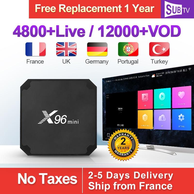 SUBTV Arabic France IPTV Box X96Mini Android 7.1 1+8G French 1 Year Italy Turkey Full HD IP TV