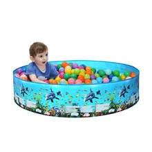Summer 183/244cm Play ball Pool Baby swimming Pool kid Water Toys inflatable Bath Tub Round lovely animal printed bottom