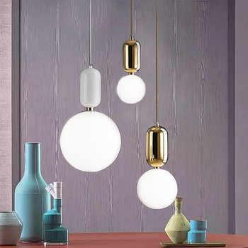Modern LED Pendant light europe glass ball Indoor lighting novel Hanging lamp Restaurant Bedroom bar shop vintgae light fixture - DISCOUNT ITEM  20% OFF All Category