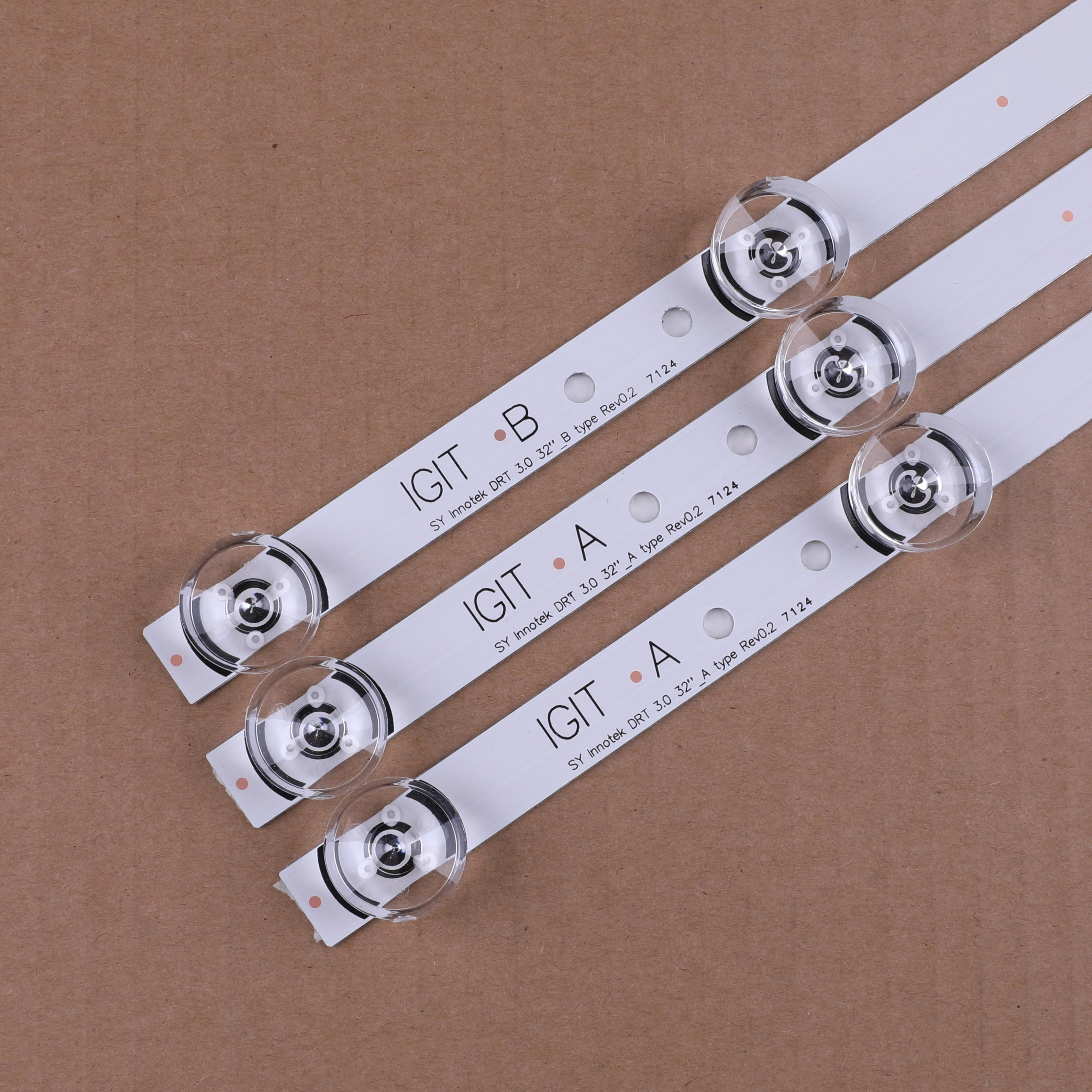 6pcs 59cm retroiluminação LED LEDs para LG innotek 6 drt 3.0 32