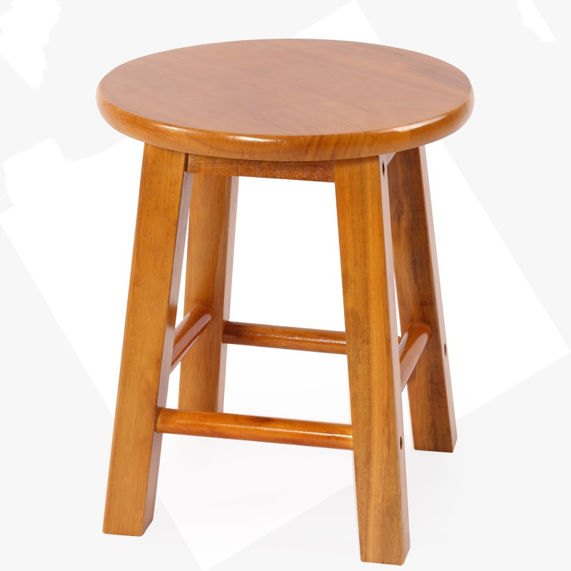 Solid Wooden Stool Round Stool Creative Small Chair Adult Household Small Wooden Stool Living Room Small Stool Children Bench Lo