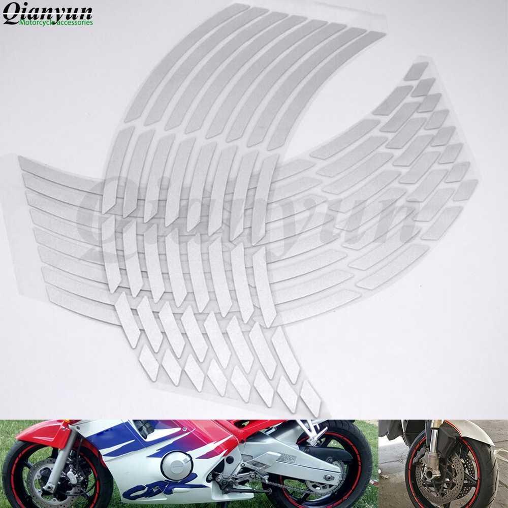 """Nuevo universal 17 """"18"""" 19 """"motocicleta coche neumático pegatina cinta de borde reflectante para YAMAHA YZF R1 R6 r6S YZF-R25 YZF-R3 YZF R125 YZFR5"""