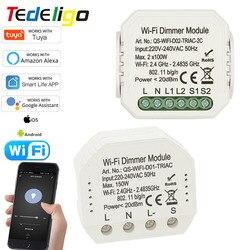 Smart/Tuya Life WiFi Light Dimmer module Switch 1/2gang 220V~240V interruptor APP Remote Control Voice Control Work With Alexa