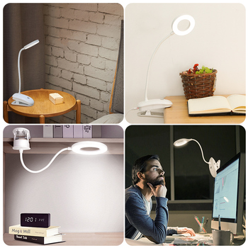 Desk Light LED Table Lamp Touch On/off Switch 3 Modes Clip Desk Lamp 7000K Eye Protection Dimmer Rechargeable USB Led Table Lamp artpad 9w super thin aluminium desk lamp 9 birghtness touch dimmer usb charge phone led foldable work desktop lamp for reading