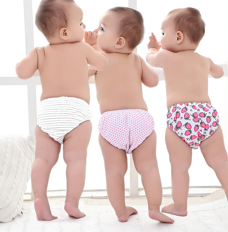 Baby Cute Multi-color Combination Velcro Swimming Diaper Pants Children Infants Men And Women Children Towel Triangular Swimming