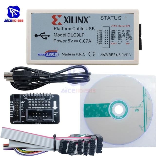 Diymore XILINX câble de plate forme USB FPGA CPLD JTAG SPI télécharger programmeur de débogueur avec câble USB type b