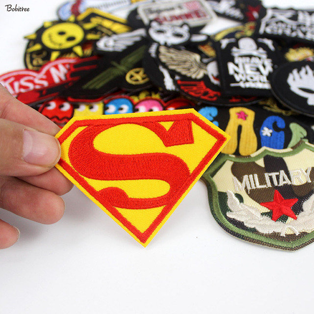 50 pcs Mixed Cloth Patches iron on Badges Hippie Embroidered Stickers Stripes on Jacket Jeans T-shirt DIY Applique wholesale