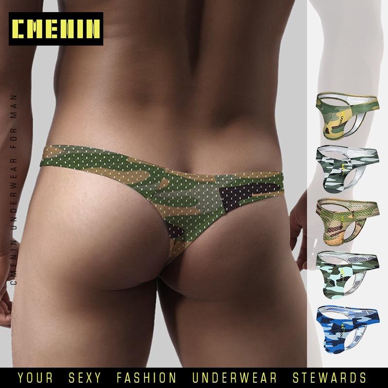 Gay Thong G-string U Pouch Leather Mens Bikini G-string T-back Underwear Men Erotic Penis Stage Thongs String Homme Jockstrap