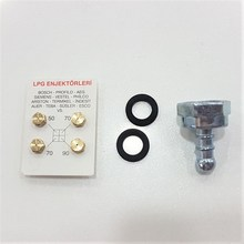 Lpg Cooker Nozzle Injector 4 PCs Set And Elbow Gasket All Brands