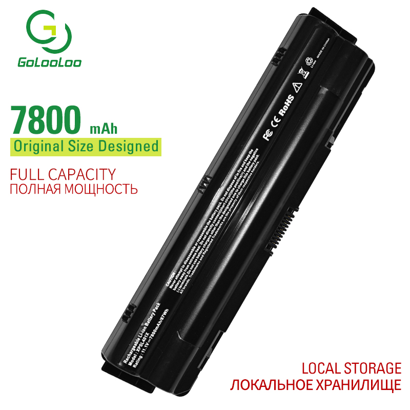 Golooloo 9 Cells 7800 MAh Laptop Battery For Dell XPS 14 L401X L501X L502X L701X L702X 08PGNG 991T2021F JWPHF P12G R4CN5 8PGNG