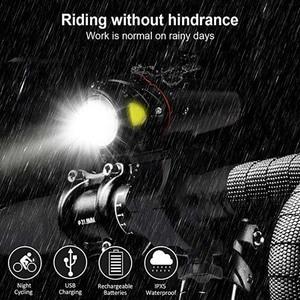 Умный фонарик 350 люмен Ультра-яркий велосипед передний 2000 мАч светодиодный фонарик лампа USB Перезаряжаемый Велосипедный свет