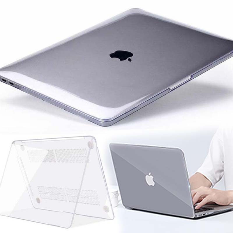KK&LL For Apple MacBook Air Pro Retina 11 12 13 15&New Air 13 / Pro 13 15 16 With Touch Bar-Crystal Hard Shell Laptop Cover Case