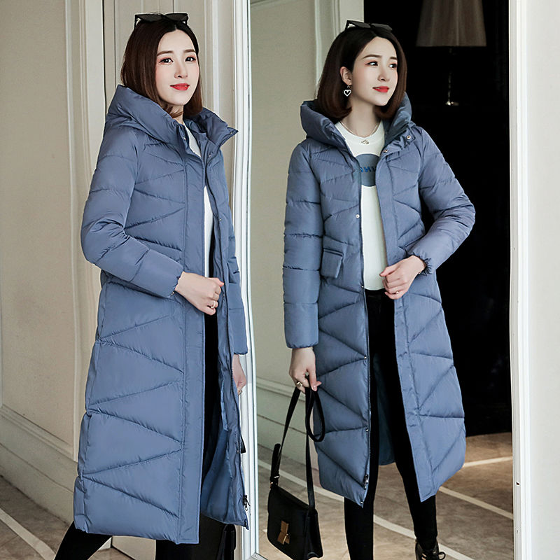 Image 4 - 2019 fur Hooded Parka casaco feminino female jacket Coat plus  size winter jacket women Casual Down Cotton Long Padded ParkasDown  Coats