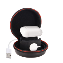 For Apple Watch Series 5 4 3 40-44mm Protective Pouch Cover Portable Charger Holder Dock Case Storage Bag Watch Zipper Box Case portable charger charging holder dock case abs storage protective cover bag box for apple watch i watch black white wholesale