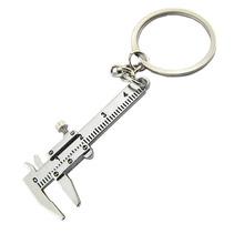 Przenośny 0-4cm Mini suwmiarki brelok narzędzia pomiarowe klucz pierścionek moda Model symulacyjny linijka suwmiarka tanie tanio Części narzędzi ręcznych CN (pochodzenie) STAINLESS STEEL Domu DIY YYC894 Key Rings Mini Key Ring Calipers Measuring Gauging Tools