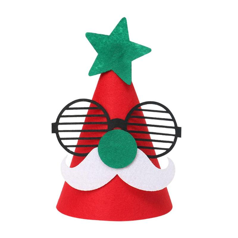 Christmas Cap Stimulate Visual Development Added Interest Children Kids Santa Claus Reindeer Snowman Tree Cartoon DIY Hat