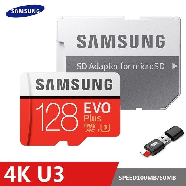سامسونج EVO Plus بطاقة الذاكرة 8GB/32GB/SDHC 64GB/128GB/256GB/SDXC مايكرو SD TF بطاقة Class10 Microsd C10 UHS 1 بطاقات 100% الأصلي