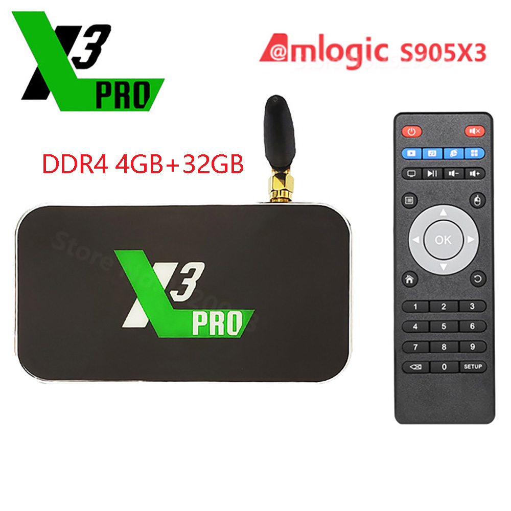 X3 Pro X3 Cube Android 9.0 Smart Tv Box Amlogic S905X3 DDR4 4GB 32GB Set Top Box 2.4G 5G Wifi 1000M 4K Media Player X3 Plus(China)